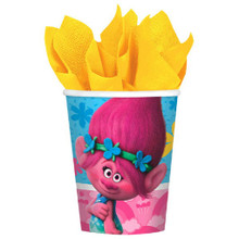 Trolls 8 Paper Cups 9 oz Hot Cold Birthday Party
