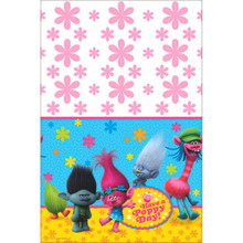 Trolls Birthday Party Plastic TableCover 54 x 96