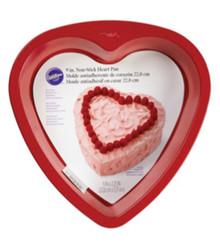 "Wilton Non-stick Red 9"" Heart Cake Pan Valentines Wedding Sweet 16"