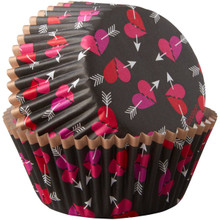 Wilton 75 Ct Heart Arrow Valentine's Baking Cups Cupcake Liners