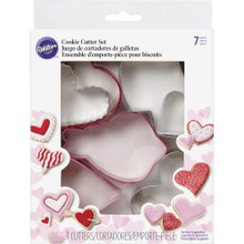 Valentines Hearts Cookie Cutters 7 pc Set Metal Assortment Wilton