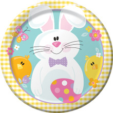 "Easter Picnic 8 Ct 9"" Lunch Plates Spring Party Bunny Chick"
