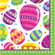 Easter Egg Fun 16 Ct Lunch Napkins Colorful Spring Party
