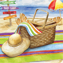 Day at the Beach 16 Ct Beverage Napkins Summer Party