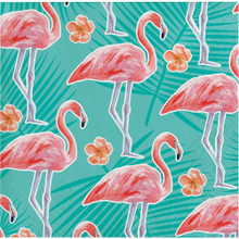 Island Oasis 16 Ct Beverage Napkins Summer Pool Party Flamingos