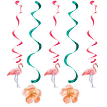 Island Oasis 5 Ct Dizzy Danglers Hanging Decorations Summer Luau Pool Party Flamingos