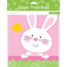 10 Easter Bunny Treat Sandwich Zip Bags Party