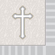 Devotion Cross 16 Beverage Napkins Baptism Confirmation Communion Christening