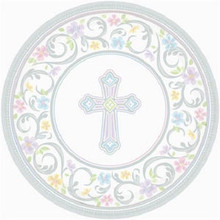 "Blessed Day 18 7"" Dessert Plates Baptism Confirmation Communion Christening Party"
