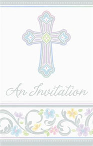 Blessed Day Invitations 8 ct  Baptism, Christening Party