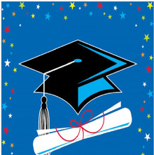 Congrats Star Grad Graduation Blue 16 ct Beverage Napkins