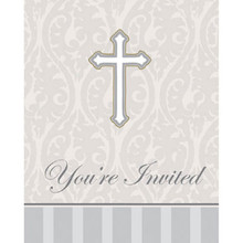 "Devotion Christening Celebration ""You're Invited"" 8 Ct Party Church Invitations"