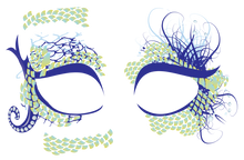 Mermaid Masque Rage Temp Tattoo Mask Mardi Gras Masquerade