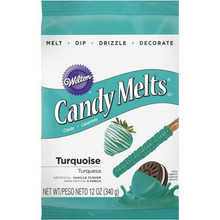 Turquoise Wilton Candy melts 12 oz Molds Holidays Vanilla Flavor