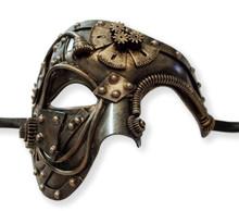 Steampunk Phantom Masquerade Mask Men Antique Gold