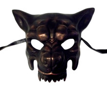 Copper Wolf Masquerade Party Halloween Mask by KBW