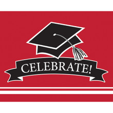 Classic Red Black 25 Ct Value Size Invitations Graduation School Spirit