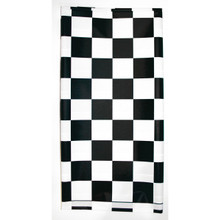 "Stay Put Plastic Tablecover Black White Check 29"" x 72"" Banquet Wind Proof Stayput"