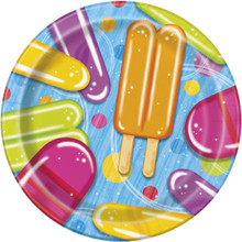 "Popsicle Party 8 Paper 7"" Dessert Plates Summer Pool Beach"