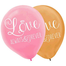"Love Always and Forever Bridal Shower Party Latex 12"" Balloons 6 Ct"