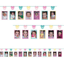 Minnie Mouse Fun To Be One Photo Garland Banner Happy Birthday Party