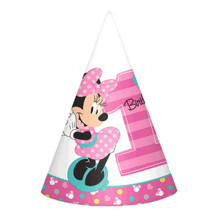 Minnie Mouse Fun To Be One 8 Cone Hats 1st Birthday Party