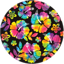 "Neon Paradise 18 10.5"" Lunch Plates Luau Summer Pool Party"