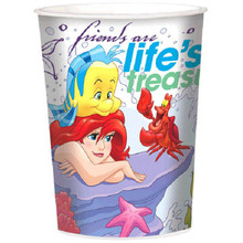 Ariel Dream Big Birthday Party Plastic Favor Cup 16 oz Little Mermaid