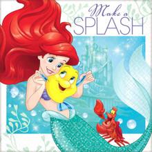 Ariel Dream Big 16 Beverage Napkins Birthday Party Little Mermaid