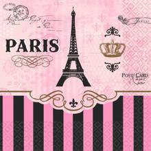Day in Paris Disney 16 Beverage Napkins Birthday Party