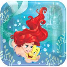 """Ariel Dream Big 8 9"""" Lunch Plates Birthday Party Little Mermaid"""