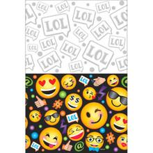 LOL Emoji Plastic Tablecover 54 x 96 Birthday Party