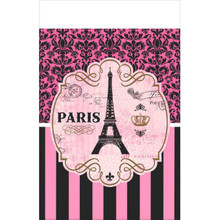 Day In Paris Plastic Tablecover 54 x 102 Birthday Party