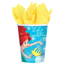 Ariel Dream Big 8 9 oz Hot Cold Paper Cups Birthday Party Little Mermaid