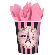 Day In Paris 8 9 oz Hot Cold Paper Cups Birthday Party