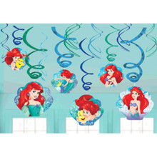 Ariel Dream Big 12 Ct Swirl Decoration Value Pack Birthday Party Mermaid