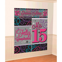 Mis Quince Años Scene Setters Wall Decorating Kit Quinceanera