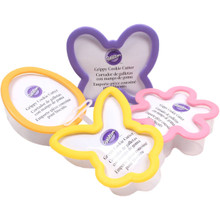 Easter Grippy Set 4 Cookie Cutters Butterfly Bunny Egg Flower