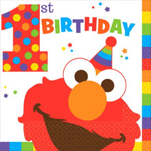 Elmo Turns One 16 Luncheon Napkins 1st Birthday Party Sesame Street