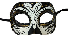 Cronos Gold Black Day of the Dead Style Masquerade Mardi Gras Halloween Mask