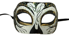 Cronos Aurora Black Day of the Dead Style Masquerade Mardi Gras Halloween Mask