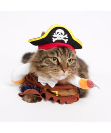 Pet Pirate 3 pc Costume Small Dog Cat