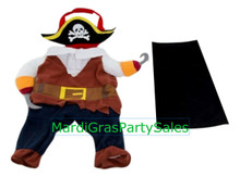 Pet Pirate 3 pc Costume Medium Sized Dog 13 inches