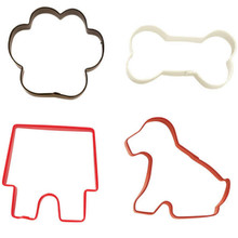 Wilton Colorful Pet Theme Metal Cookie Cutters 4 Pc Set Dog