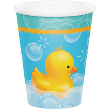 Bubble Bath Duck 8 Paper Hot Cold Cups Baby Shower Rubber Ducky