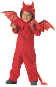 Lil' Spitfire Cute Red Devil Halloween Costume Toddler 3-4