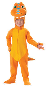 Buddy Dinosaur Train Halloween Costume Toddler 4-6 Large Orange