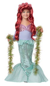 Lil' Mermaid Halloween Dress Up Play Costume Toddler 3-4