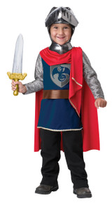 Gallant Knight Halloween Dress Up Play Costume Toddler 3-4 With Sword