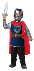 Gallant Knight Halloween Dress Up Play Costume Toddler 4-6 with Sword